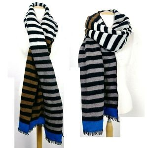 Free People Multicolor Striped Blanket Scarf